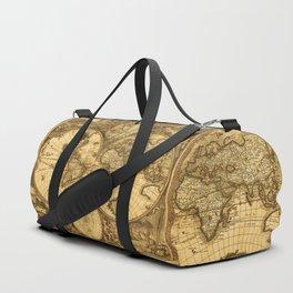 Antique World Map Duffle Bag
