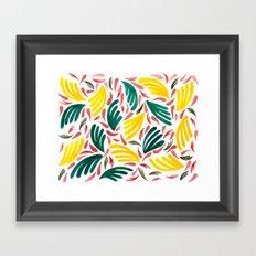 Plants Yellow + Green Framed Art Print