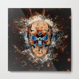 Skull Origins Metal Print