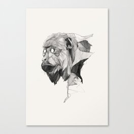 Seven Monkeys – Greed Canvas Print