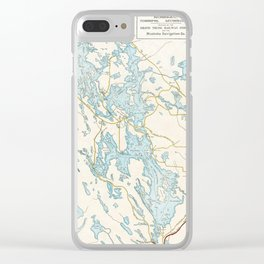 Vintage Muskoka Lakes Map Clear iPhone Case