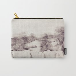 Lying on the bed. Nude studio Carry-All Pouch
