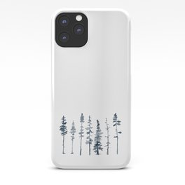 Navy Trees Silhouette iPhone Case