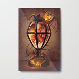 The Dragon Lantern Metal Print