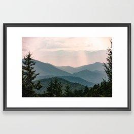 Smoky Mountain Pastel Sunset Framed Art Print