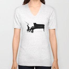 Piano Passion Unisex V-Neck