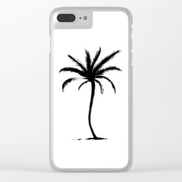 Classic Palm Tree Clear iPhone Case