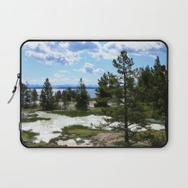 West Thumb Yellowstone Lake Laptop Sleeve