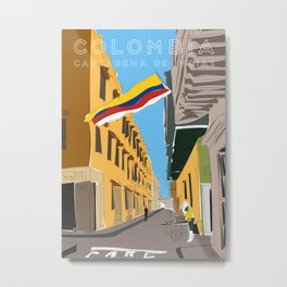 Cartagena de Indias, Colombia Travel Poster Metal Print