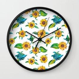 Sunflowers pattern Wall Clock