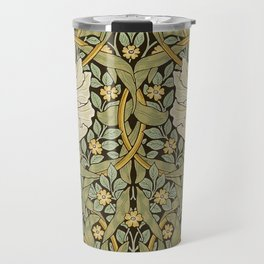 William Morris Pimpernel Art Nouveau Floral Pattern Travel Mug