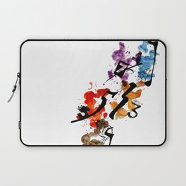 Typographic Number illustrations, watercolor,  3,4,5,7,9 by carographic Laptop Sleeve