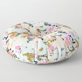 Florence Painterly Floral Floor Pillow