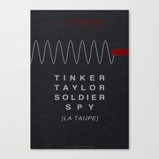 Tinker, Taylor, Soldier, Spy - MINIMALIST POSTER Canvas Print