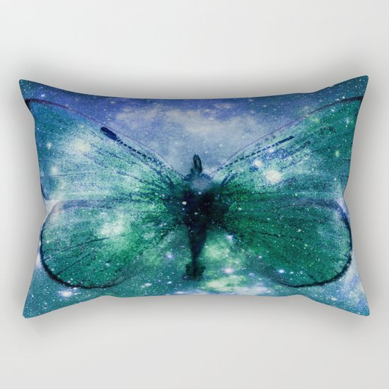 Celestial Butterfly Rectangular Pillow