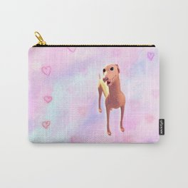 Greyhound with hearts pattern Carry-All Pouch