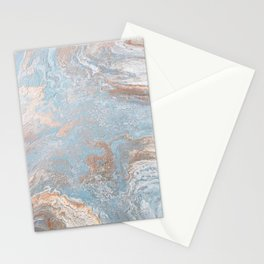 Rose Gold & Baby Blue Stationery Cards