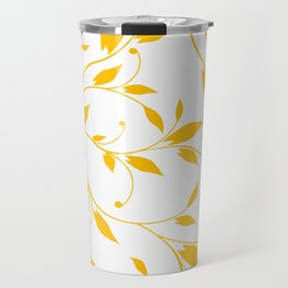 FLOWERY VINES | white yellow Travel Mug