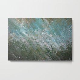 Wavy Mirage Water Marbling Metal Print