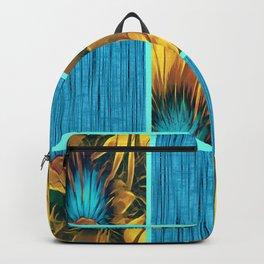 Blue & Gold Floral Bliss Backpack