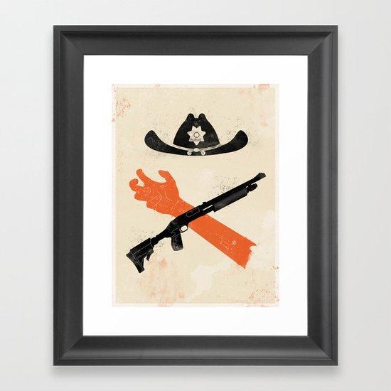 The Wandering Dead Framed Art Print