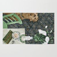 labrador Area & Throw Rugs featuring Geometry Labrador by Yuliya
