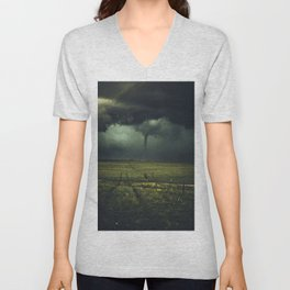 Tornado Coming (Color) Unisex V-Neck