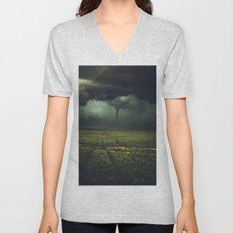 Tornado Coming (Color) Unisex V-Neck
