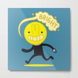 Bright Bulb Metal Print