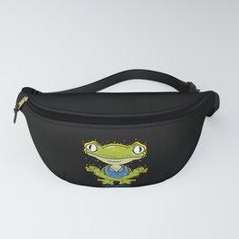 Funny Yoga Design: Frog Yoga Pose Fanny Pack