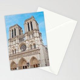 France Photography - Cathédrale Notre-Dame De Paris Under The Blue Sky Stationery Cards