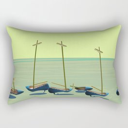 Static Waiting for May - shoes stories Rectangular Pillow