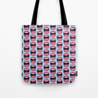 mouth Tote Bags featuring MOUTH BREATHER by Matthew T. Wilson