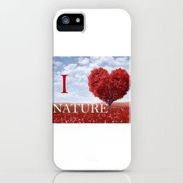 I lov nature iPhone Case