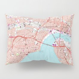 Vintage Map of Jacksonville Florida (1964) Pillow Sham