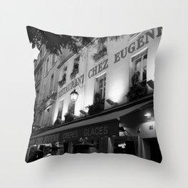 B&W Chez Eugene Throw Pillow