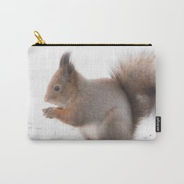 Squirrel And Lunch Pause Winter Scene #decor #society6 #buyart Carry-All Pouch