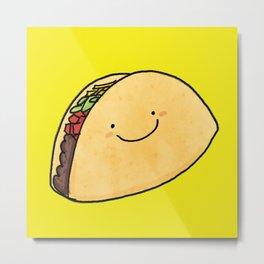 Cute Taco Metal Print