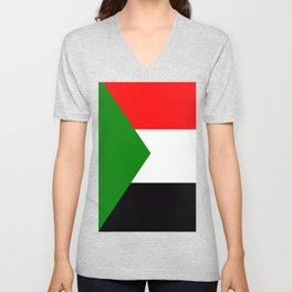 Flag of Sudan Unisex V-Neck