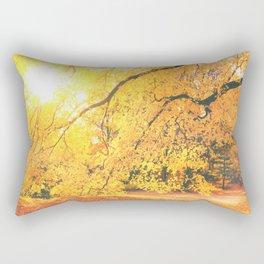 New York City Autumn Sun Rectangular Pillow
