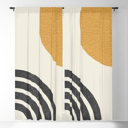 Mid century modern Sun & Rainbow Blackout Curtain