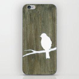 Wooden bird 2 iPhone Skin