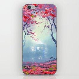 TARDIS CLOUD art painting iPhone Skin