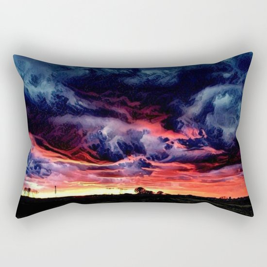 Sunset over the Horizon (Gorgeous Landscape) Rectangular Pillow