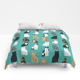 Cat lover must have gifts for cat ladies cat men kitty cats Comforters