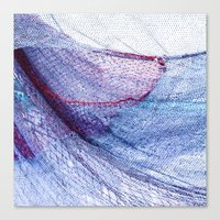 fishing Canvas Prints featuring fishing by Claudia Drossert