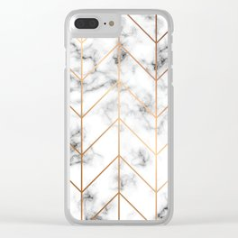 Marble Geometry 057 Clear iPhone Case