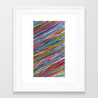 olivia joy Framed Art Prints featuring Joy Strings by Joke Vermeer