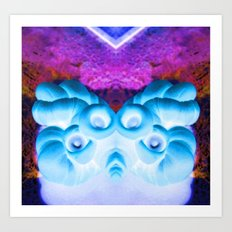 Sea Creature #1: Deep Sea Bioluminescence  Art Print