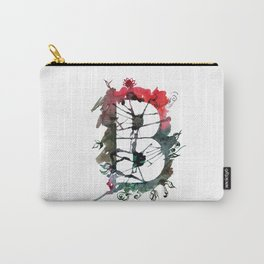 Watercolor hand drawn the letter B with flower pattern. ABC. Monogram Carry-All Pouch